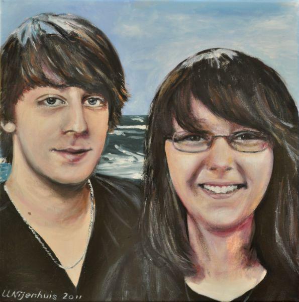 Alexander und Viktoria an der Ostsee, Gemälde